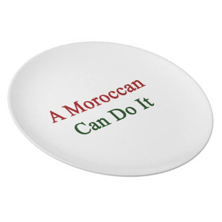 A Moroccan Can Do It Party Plate
