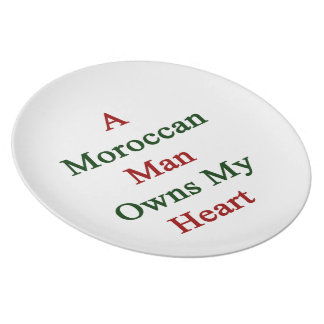 A Moroccan Man Owns My Heart Plates