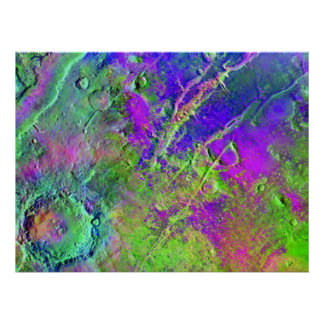 A Mosaic From Mars Odyssey Print