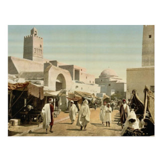 A mosque in the principal street, Kairwan, Tunisia Postcard