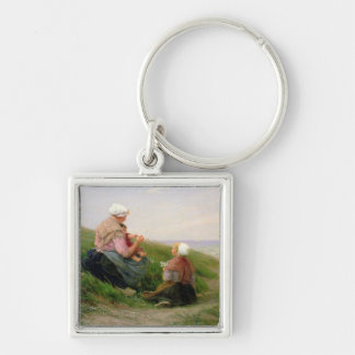 A Mother and her Small Children Keychain