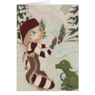 A Mother For Charlie- Dragon Fairy Christmas Card