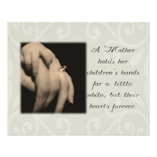 A Mother Holds Her Children's Hands Photo Print