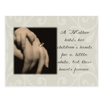 A Mother Holds Her Children's Hands Postcard