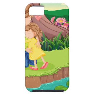 A mother hugging her daughter at the riverbank iPhone SE/5/5s case