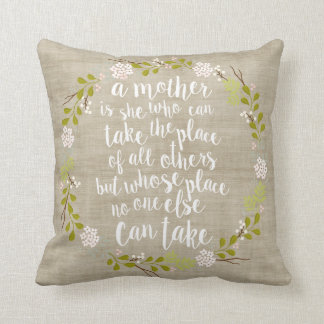 A Mother Is Everything Quote Woodland Wreath Pillows