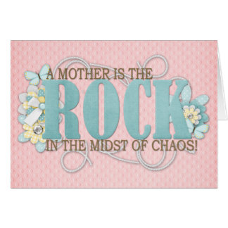 A mother is the rock card