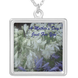 A Mother's Day Just For You Square Pendant Necklace