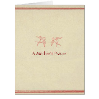 A Mother's Prayer ©2012 by Trinka Polite (card) Large Greeting Card