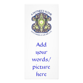 A Mother s Womb God s Garden of Life and Love Custom Rack Cards
