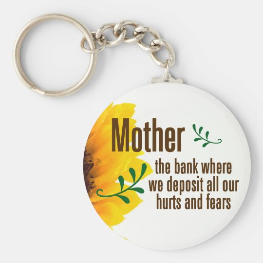 A mother takes her children's hurts and fears keychain