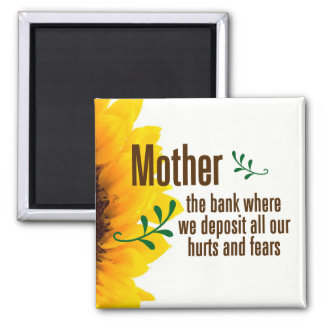 A mother takes her children's hurts and fears magnet