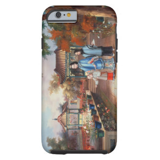 A mother with her children in a chinese garden c iPhone 6 case