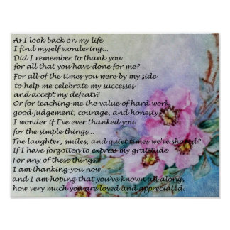 A Mother's Day Poem Poster