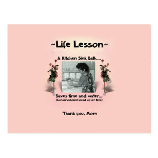 A Mother's Life Lesson #2 Postcard