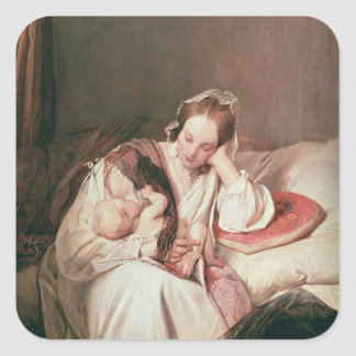 A Mother's Love, 1839 Square Sticker