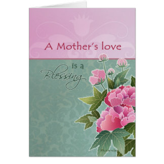 a mother's love is a blessing, happy mother's day card