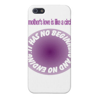 A mother's love is like a circle case for iPhone SE/5/5s