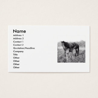 A Mother's Love Mare and Foal Business Card