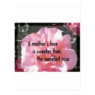 A Mother's Love - Rose Emblem for Mom Postcard