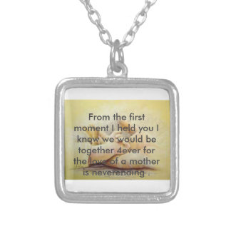 A mothers love square pendant necklace