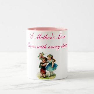 a Mother's love Two-Tone Coffee Mug