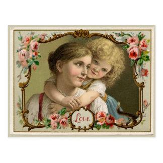 A Mother's Love Vintage Reproduction Postcard