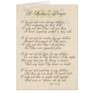 A Mother's Prayer Card