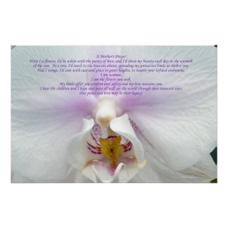 A Mother's Prayer poster- perfect gift for any mom Poster