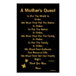 A Mother's Quest Poster-Customize