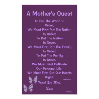 A Mother's Quest Poster-Customize Poster