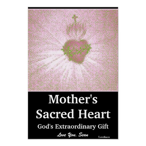 A Mother's Sacred Heart Poster-Customize