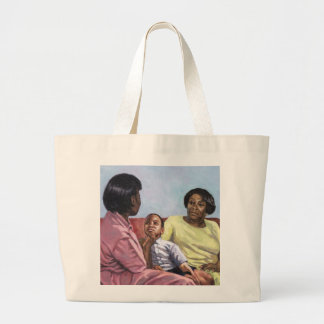 A Mother's Strength 2001 Large Tote Bag