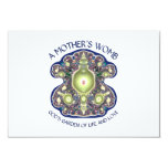 """A Mother's Womb: God's Garden of Life and Love 3.5"""" X 5"""" Invitation Card"""