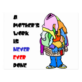 A Mother's Work is Never Done Postcard