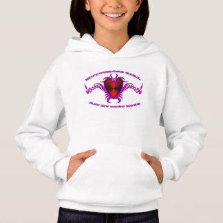A motocross girl's heart hoodie