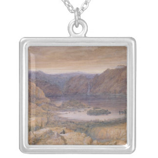 A Mountain Lake, Norway, c.1827 Square Pendant Necklace