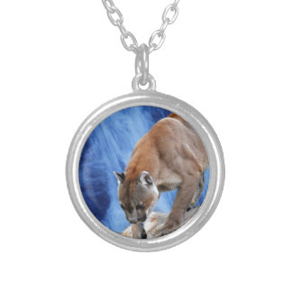 A mountain lion at the waterfall jewelry