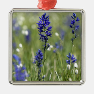 A mountain meadow of wildflowers including metal ornament