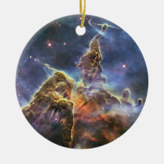 A mountain of dust and gas in the Carina Nebula Ceramic Ornament