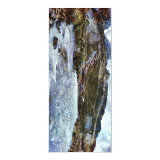 A mountain river in spate 4x9.25 paper invitation card