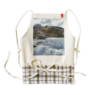 A mountain river in spate zazzle HEART apron