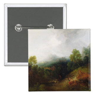 A Mountain Valley with Rustic Figures, c.1773-7 (o 2 Inch Square Button