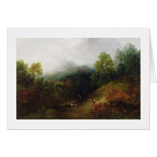 A Mountain Valley with Rustic Figures, c.1773-7 (o Card