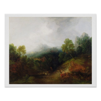 A Mountain Valley with Rustic Figures, c.1773-7 (o Poster