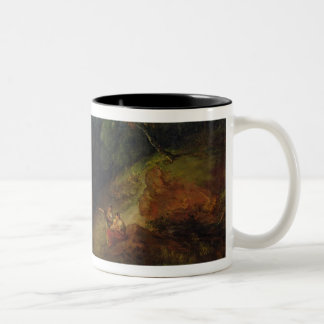 A Mountain Valley with Rustic Figures, c.1773-7 (o Two-Tone Coffee Mug