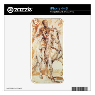 A Mounted Knight in Armour (pen and ink on paper) Skin For iPhone 4S