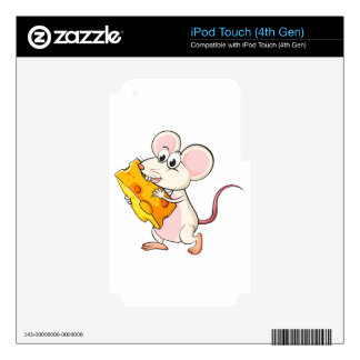 A mouse eating cheese iPod touch 4G skin