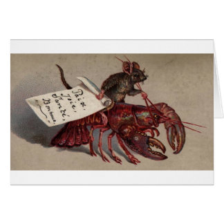 A Mouse & His Lobster Card