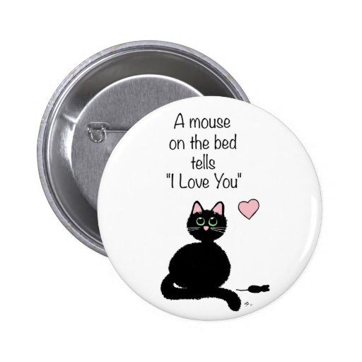A Mouse on the Bed Pin